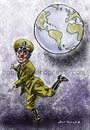 Cartoon: Charlie Chaplin (small) by Bob Row tagged chaplin dictator power humor