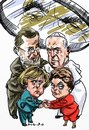 Cartoon: Spying on my friends (small) by Bob Row tagged obama,spy,rajoy,merkel,francis,rousseff,snowden
