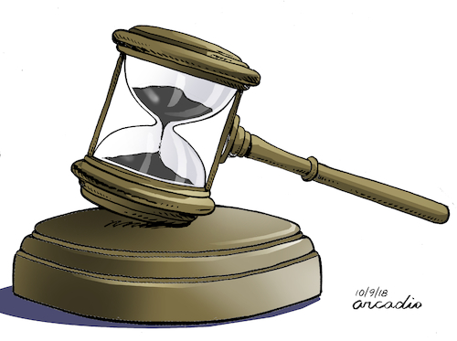 Cartoon: Justice and time. (medium) by Cartoonarcadio tagged justice,crime,courts,people