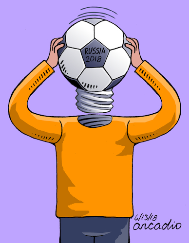Cartoon: The World Cup starts. (medium) by Cartoonarcadio tagged football,soccer,russia,national,teams,sport,celebration
