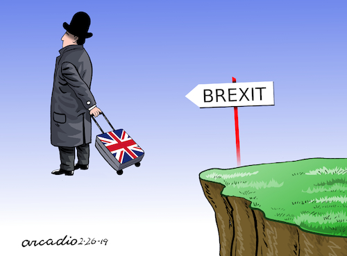 Cartoon: To the Brexit? (medium) by Cartoonarcadio tagged europe,great,britain,brexit
