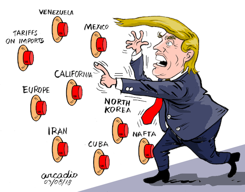 Image result for trump china trade war cartoon
