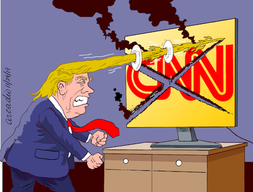Image result for images of cnn hating trump