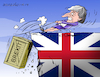 Cartoon: Brexit and May in trouble. (small) by Cartoonarcadio tagged may,euro,europe,economy,brexit