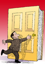 Cartoon: Entrance to the knowledge. (small) by Cartoonarcadio tagged door,knowledge,book,reading