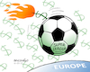 Cartoon: Football war. (small) by Cartoonarcadio tagged football,business,sport,europe