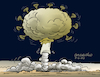 Cartoon: Mass destruction virus. (small) by Cartoonarcadio tagged pandemic,virus,helth,covid,19