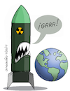 Cartoon: Planet Earth and nuclear weapons (small) by Cartoonarcadio tagged nuclear,weapons,wars,conflicts,planet,earth