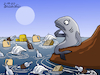 Cartoon: Polluted oceans. (small) by Cartoonarcadio tagged oceans,garbage,pollution,environment