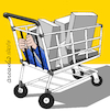 Cartoon: Prisioner of consumerism. (small) by Cartoonarcadio tagged consumerism,shoping,free,market,economy