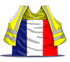 Cartoon: Protests in France. (small) by Cartoonarcadio tagged yelow,vests,france,protests,social,issues