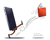 Cartoon: Smarthphone vs Books (small) by Cartoonarcadio tagged books,cellphones,people,social,nets