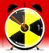 Cartoon: Stop that clock. (small) by Cartoonarcadio tagged nuclear,power,conflicts,peace,wars