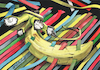 Cartoon: Surrealist Banana. (small) by Cartoonarcadio tagged banana,surrealism,art,watercolor