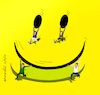 Cartoon: Take this cartoon with humor (small) by Cartoonarcadio tagged cartoon,smile,humor,happyness