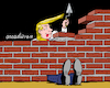 Cartoon: That foolish wall (small) by Cartoonarcadio tagged trump,economy,immigrants,wall