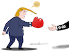 Cartoon: Trump and the G-20 (small) by Cartoonarcadio tagged trump,us,president,usa,20,europe,germany