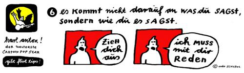 Cartoon: Karl-Anton FlirtTIPS6 (medium) by udoschoebel tagged flirttips,cartoon,popstar,udo,schöbel