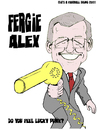 Cartoon: Alex Ferguson - Hair dryer (small) by bluechez tagged manchester united ferguson 25 years alex football premiership