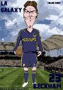 Cartoon: David Beckham - LA Galaxy (small) by bluechez tagged david beckham la galaxy mls soccer football usa