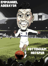 Cartoon: Emmanuel Adebayor - Spurs (small) by bluechez tagged tottenham,hotspur,spurs,emmanuel,adebayor,football,striker,premiership