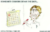 Cartoon: Luka Modric - Counting the days (small) by bluechez tagged spurs,tottenham,hotspur,football,chelsea,transfers,croatia