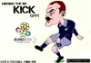 Cartoon: Wayne Rooney - Kick! (small) by bluechez tagged rooney,england,euro2012,poland,ukraine,football,soccer