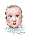 Cartoon: Baby J (small) by Harbord tagged baby,portrait