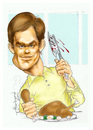 Cartoon: Dexter caricature Meaner version (small) by Harbord tagged dexter,morgan,michael,hall,killer