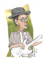 Cartoon: Greg Hathaway caricature (small) by Harbord tagged greg,hathaway,roots,roundup