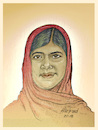 Cartoon: Malala (small) by Harbord tagged malala,yousafzai,pakistan,activist,education