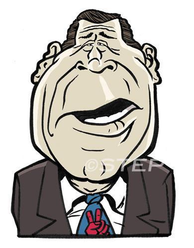 george w bush cartoon. Cartoon: George W. Bush