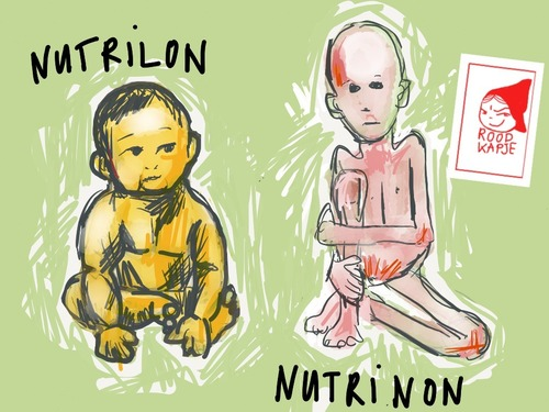 Cartoon: Nutrilon (medium) by Roodkapje tagged china,milk,netherlands,baby