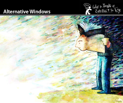 Cartoon: Alternative Windows (medium) by PETRE tagged microsoft,books,literature,reading