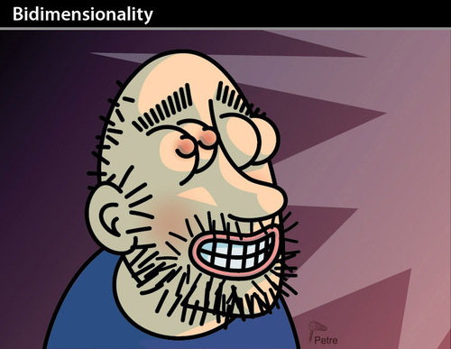 Cartoon: Bidimensionality (medium) by PETRE tagged porno,marketing