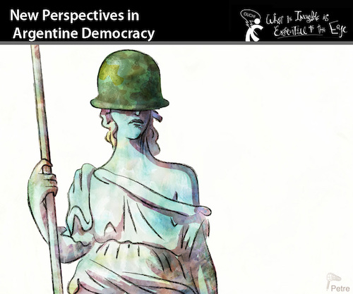 Cartoon: New Perspectives in... (medium) by PETRE tagged politics,militars,argentina,security
