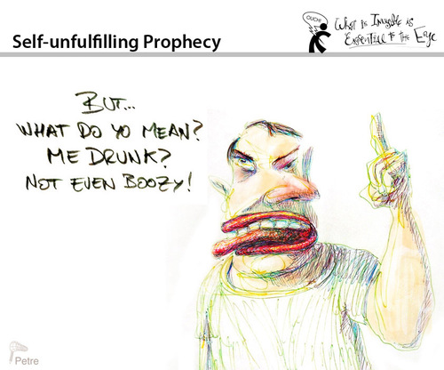 Cartoon: Self Unfulfilling Prophecy (medium) by PETRE tagged drunk,wine,beverages
