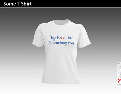 Cartoon: SOME T-SHIRT (medium) by PETRE tagged internet,google,big,brother