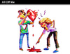 Cartoon: All Off Me (small) by PETRE tagged love couples fights
