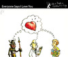 Cartoon: Everyone Says I Love Your (small) by PETRE tagged people toughts
