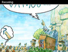 Cartoon: Focusing (small) by PETRE tagged politics ideology