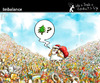 Cartoon: Imbalance (small) by PETRE tagged christmas santa gifts pollution
