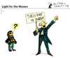 Cartoon: Light for the Masses (small) by PETRE tagged music fantatism