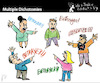 Cartoon: Multiple Dichotomies (small) by PETRE tagged discussions,betrayal,fights,confussion