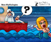 Cartoon: New Mythologies (small) by PETRE tagged gmo,mermaids