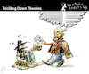Cartoon: TRICKLING DOWN THEORIES (small) by PETRE tagged economics,poverty,wealth,politics,ideologies