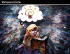 Cartoon: Virtuous Circle (small) by PETRE tagged origin ideas reading books