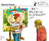Cartoon: Ways and Shapes (small) by PETRE tagged art,naif