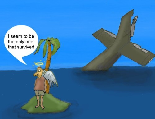 Cartoon: The only one (medium) by Hezz tagged island,surviver