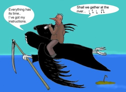 Cartoon: To be or not to be. (medium) by Hezz tagged desert,island,to,be